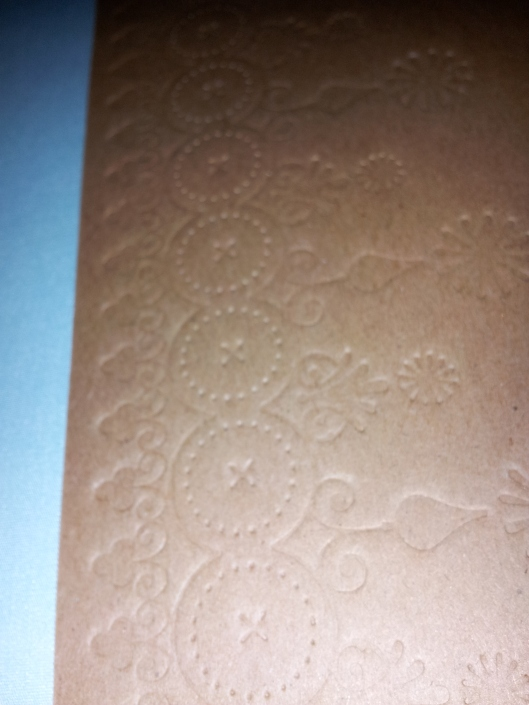 A close up of the cover. It kind of reminds me of shortbread cookies!