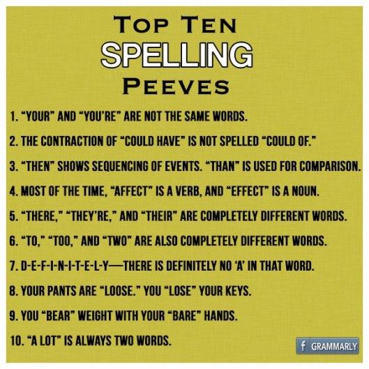spelling peeves