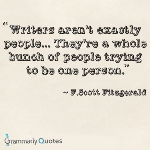 writers are a whole bunch of people