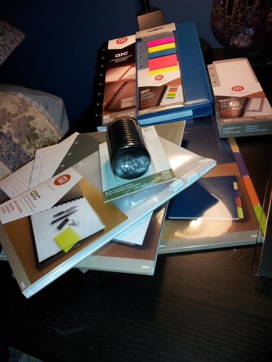 5staples arc notebook haul