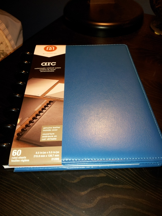 blue arc notebook