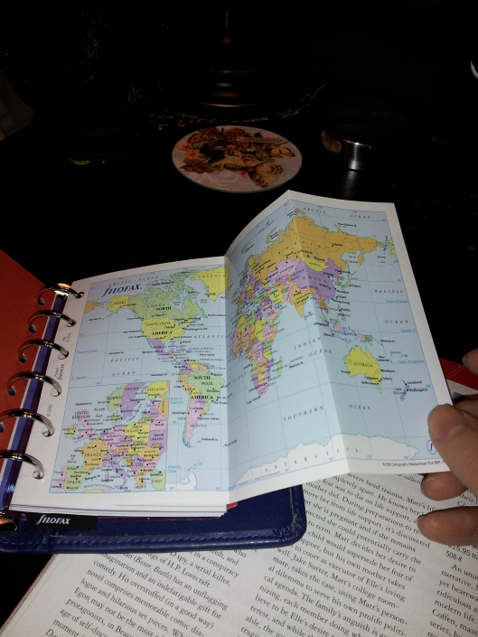 filofax pull out map