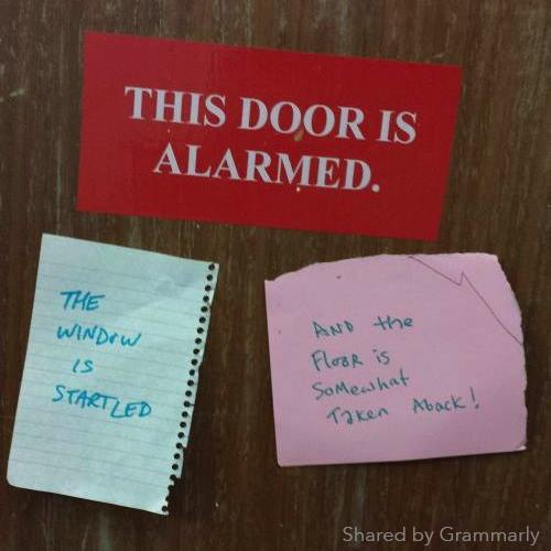 door is alarmed