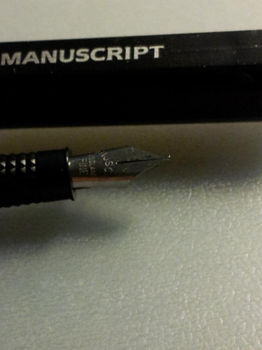 manuscript closeup fine nib