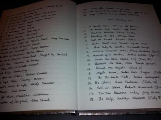 2011 Reading List