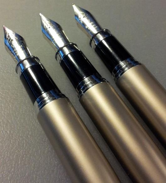 3 pens uncapped