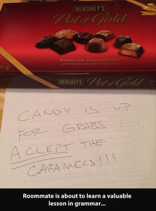 accept the caramels