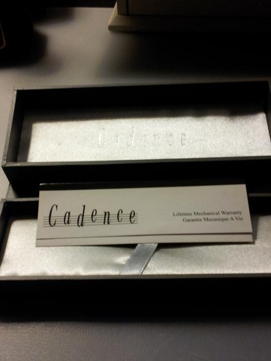 cadence box open