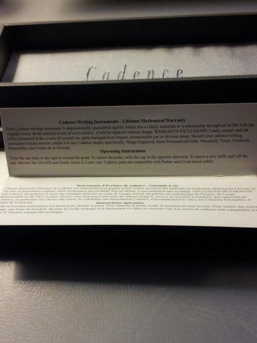 cadence paperwork