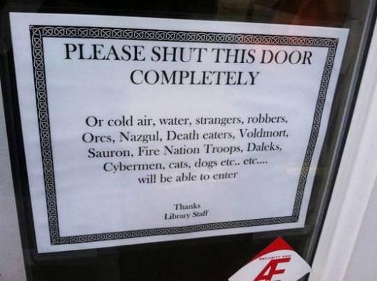 close door