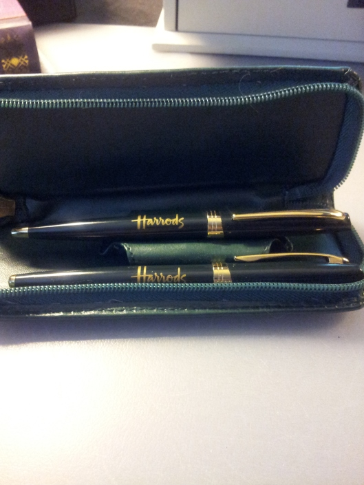 inside pen case pens raised