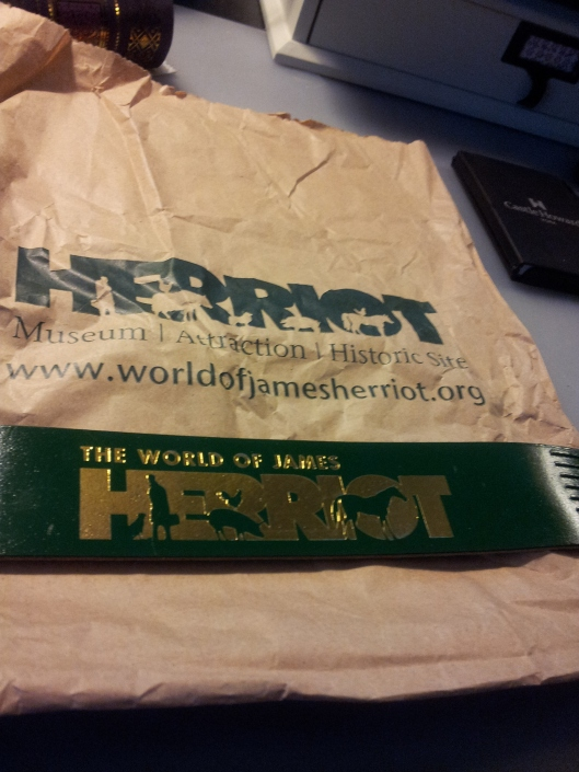 james herriot bookmark and bag