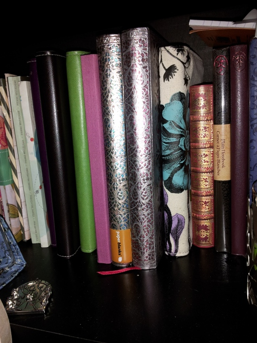 journal on the shelf