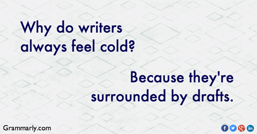 writers feel cold
