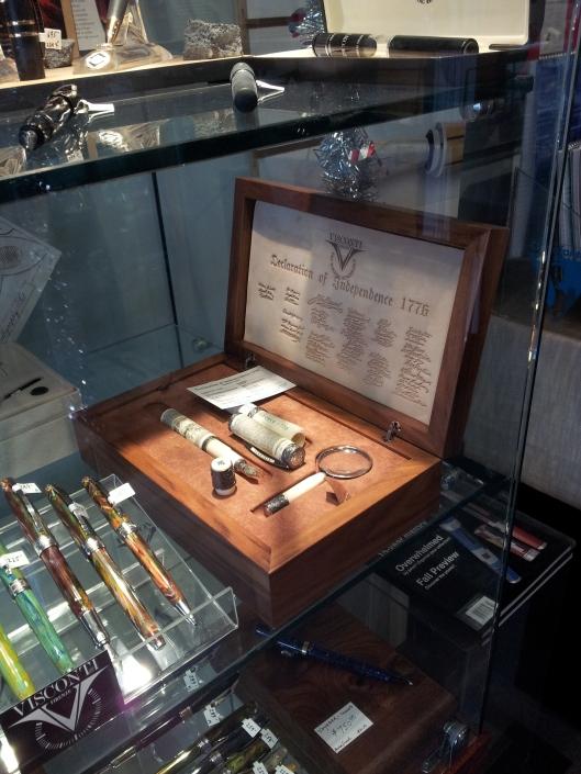 Visconti Declaration of Independence pen