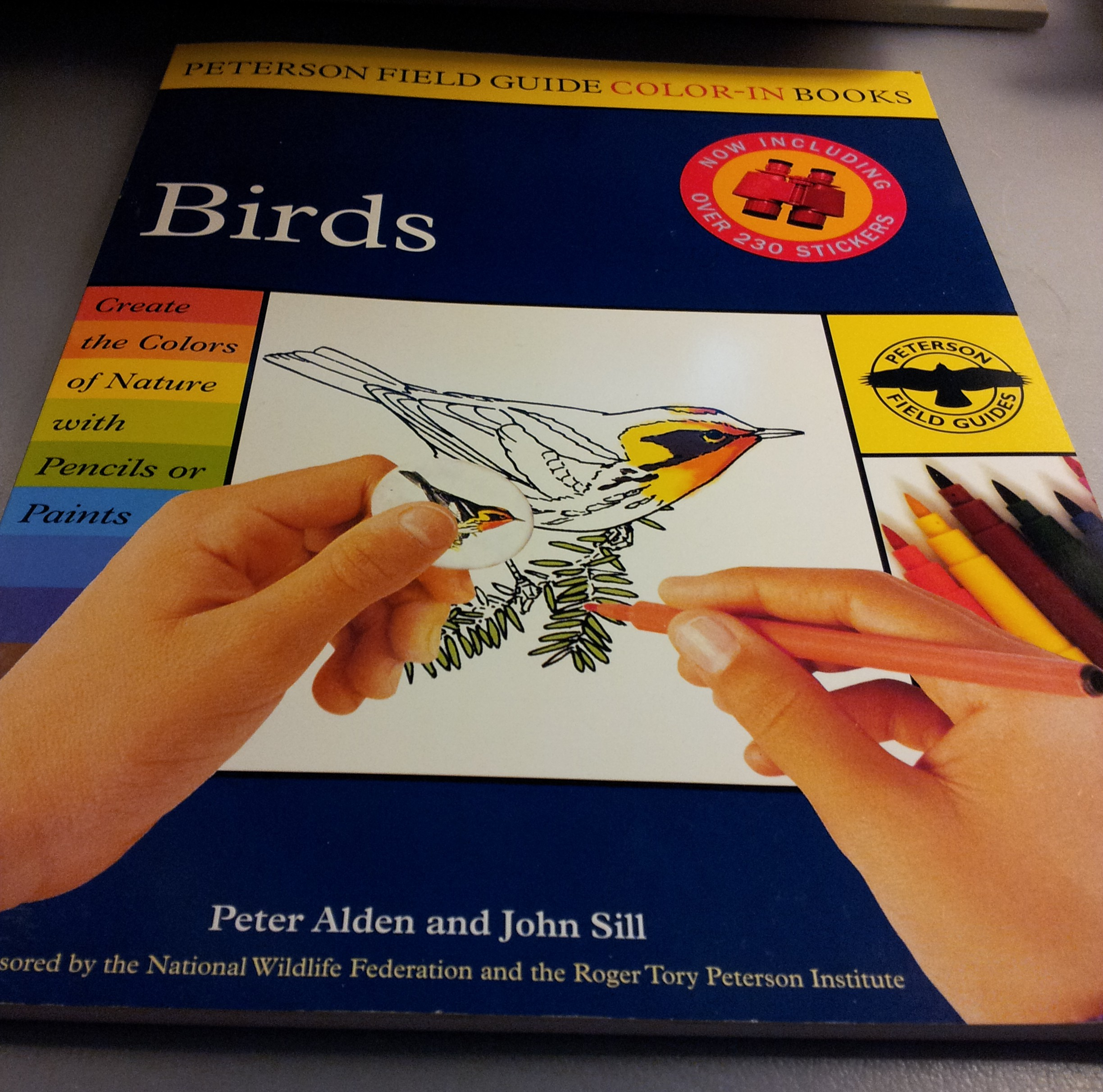 Next Up Is The Peterson Field Guide Color In Book Birds I Was Thrilled To Open This Because Ive Seen Other People Relax While Colouring Adult Books