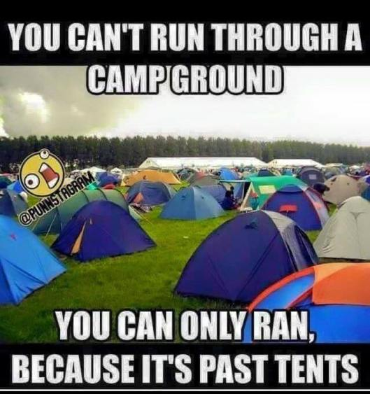 run through a campground