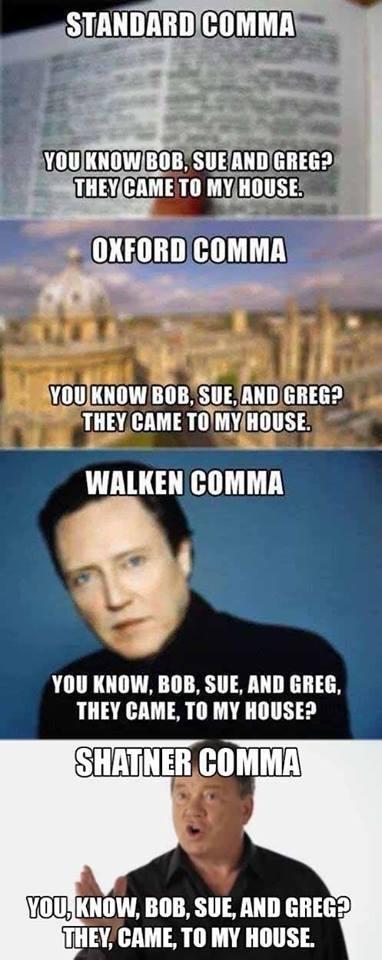 standard comma