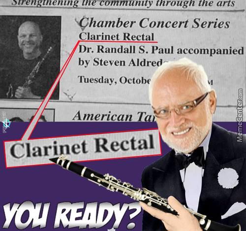 clarinet rectal