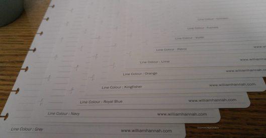 different line colours